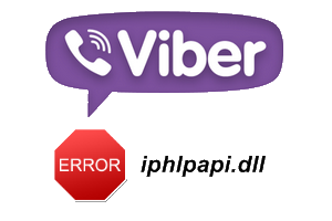 Ошибка iphlpapi.dll в Viber на Windows Xp